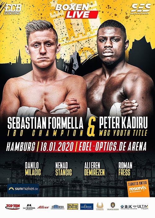 Ses Boxing Boxen Live In Hamburg Sebastian Formella Und Peter Kadiru Ibo Wm Und Wbc Junioren Wm